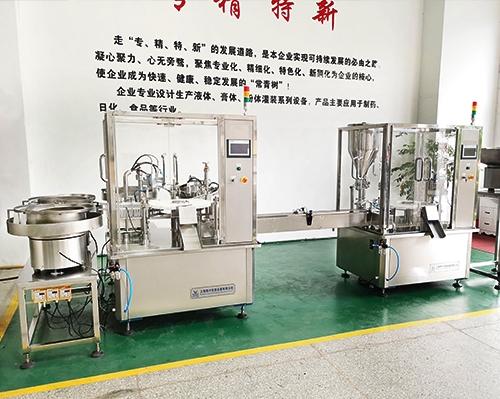 全自动四件套凝胶管组合灌装机