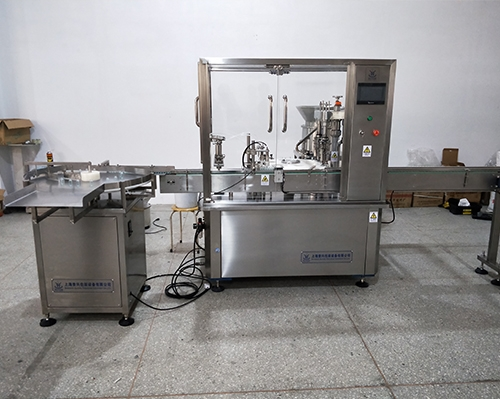 Cylinder bottle filling and capping machine