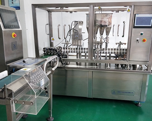 High-speed linear gel tube filling combined machine