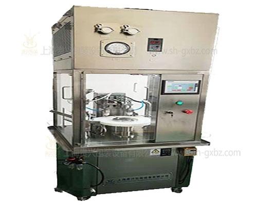 Semi automatic pre filling syringe vacuum filling and plugging machine