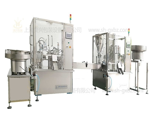 Fully automatic four piece gel tube combined filling machine