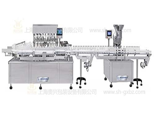 Production line of large infusion filling and capping machine