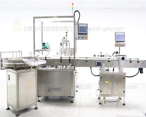 IVD diagnostic reagent filling and capping production line