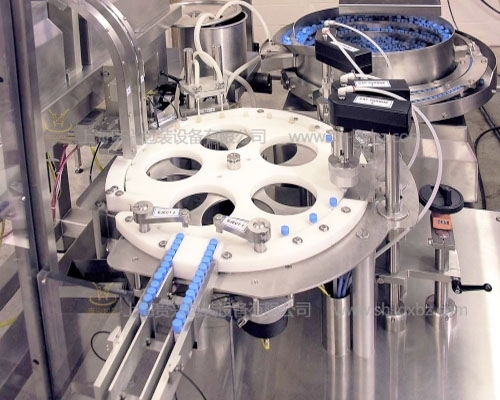 Centrifugal tube micro reagent filling and labeling production line