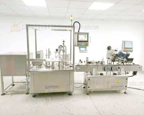 IVD micro diagnostic reagent filling screw cap labeling production line