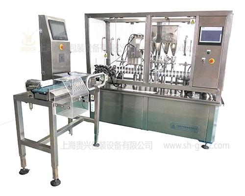 High speed linear gel tube filling machine